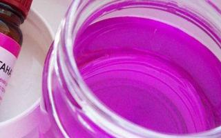 Перманганат калия: очищаем самогон марганцовкой